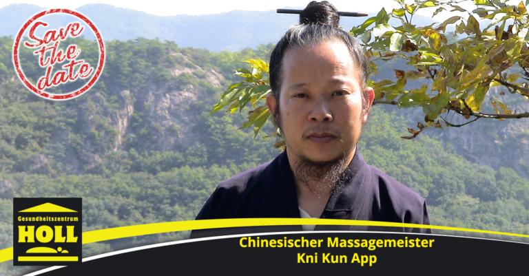 Chinesischer Massagemeister Kni Kun App zu Gast