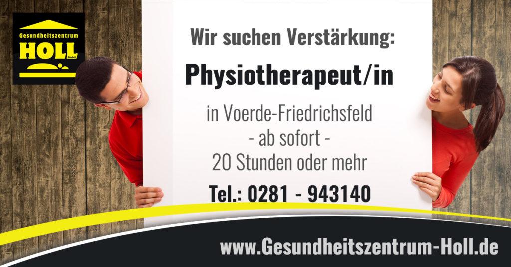 Stellenanzeige für Physiotherapeuten